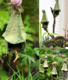4. #Faerie Birdhouse - 9 #Miniature Faerie Crafts That Are #Utterly Magical ... → DIY #Powder