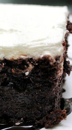 Chocolate Nutella Poke Cake ~ A moist chocolate cake, an easy and simple recipe made with Nutella.