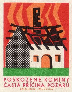 Fire Prevention Matchbox Label (Czech Republic)