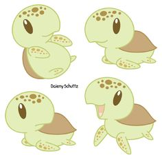 Chibi Loggerhead Sea Turtle by Daieny.deviantart.com on @DeviantArt