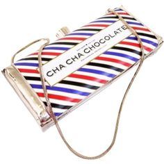 Pre-owned Kate Spade Cha Cha Chocolate Multi Clutch ($299) ❤ liked on Polyvore featuring bags, handbags, clutches, multi, chocolate purses, kate spade clutches, cowhide handbags, woven purse and kate spade purses