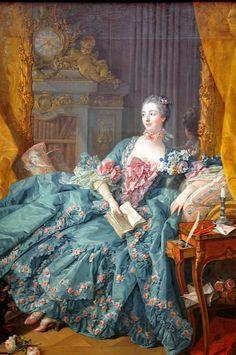 François Boucher - Madame de Pompadour Madame de Pompadour at Alte Pinakothek Munich Germany    François Boucher, Madame de Pompadour, 1756