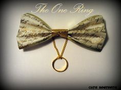 The One Ring Hair Bow Lord of the Rings by bulldogsenior08 on Etsy, $8.50