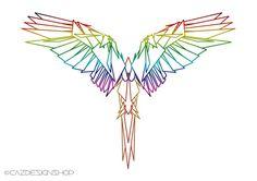 Geometric Wings Art Print Art Prints Line Art by CazDesignShop