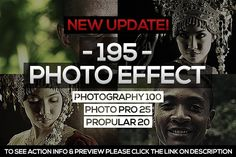 195 Photo Effect (2ND UPDATE) by isac_fabian on @creativemarket