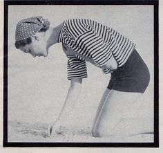 50's summer: No digging in the sand for a gal like me unless of course there are diamonds to be found!