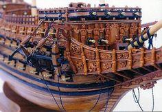 La proue du Souverain des Mers de Charles Ier Stuart