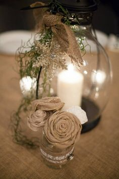 Our lantern centerpieces