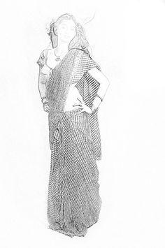 saree poses