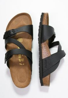 Birkenstock SALINA - Sandals - black for with free delivery at Zalando Sock Shoes, Cute Shoes, Me Too Shoes, Black Sandals, Shoes Sandals, Flats, Look Fashion, Slippers, Outfits