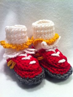 Baby Girl Football Team Booties You name your by BestDressedBaby, $12.00