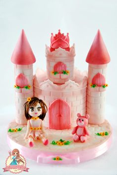 Pink Castle For Yasmine - Cake by SweetLin