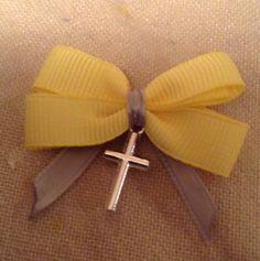 Yellow & Grey Witness Pins $10.00 at the Greek WEdding Shop ~ http://www.greekweddingshop.com/