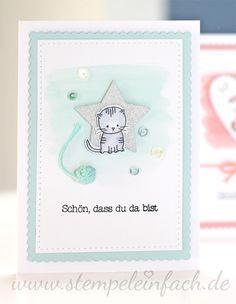 stempel einfach: Babykarten...