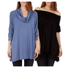 2 Pack Women's Cowl Neck Poncho Top / Sweater is available in a variety of colors. #hoodedtop #cowlneck #offtheshoulder