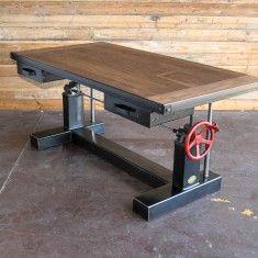 Walnut Crank Desk