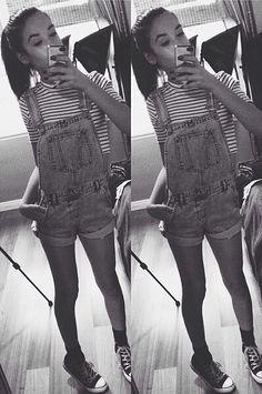 Amanda steele stripes and overalls
