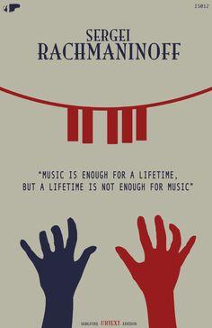 Sergei Rachmaninoff - Classical Music Poster 11\'\'x17\'\'