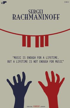 Sergei Rachmaninoff - Classical Music Poster 11''x17''