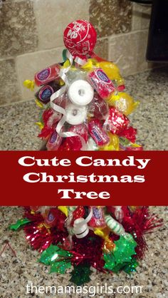 Cute Candy Christmas Trees - fun for kids & the grown-ups love to make these too!