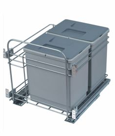 Pull Out Waste Bin 2 Bowl bin Detergent Rack Base Mounted Pull Out Waste Bin Maximum utilization of space inside the sink cabinets Heavy duty Concealed Runners used Contemporary Kitchen Interior, Personal Taste, Runners, Cabinets, Sink, Base, Decor, Hallways, Armoires