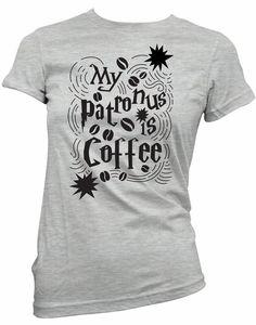 My Patronus Is Coffee Junior Fit Womens Shirt