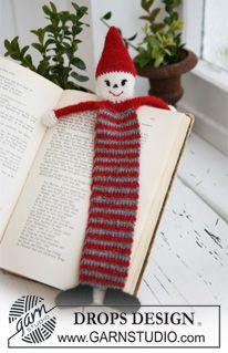 """Marque-pages Père Noël DROPS au crochet en """"Alpaca"""". ~ DROPS Design"""