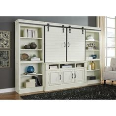 White barn door entertainment center sliding barn door entertainment center rustic white entertainment center with sliding . My Living Room, Living Room Furniture, Console Furniture, Dining Rooms, Office Furniture, Storage Cabinets, Tall Cabinet Storage, Wall Cabinets, Cupboards