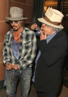 Johnny Depp and Keith Richards - Keith Richards and Johnny Depp Leave Cipriani