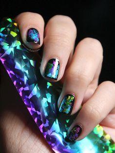 nail supply near me arts spring 2020 inspiring nail arts 2020 inspiring nail art ideas pink and white nails nail tek Funky Nails, Cute Nails, Pretty Nails, Foil Nail Art, Foil Nails, Beautiful Nail Art, Gorgeous Nails, French Nails, Les Nails