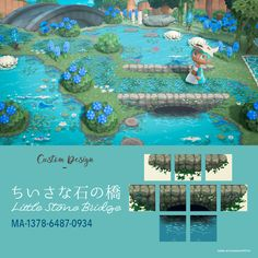 Animal Crossing 3ds, Animal Crossing Pocket Camp, Motif Acnl, Ac New Leaf, Motifs Animal, Animal Games, Path Design, Design Ideas, Photos