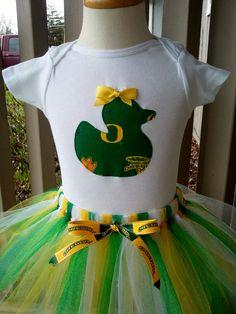 University of Oregon Duck's Fan Girl's Onesie and Tutu. $35.00, via Etsy.