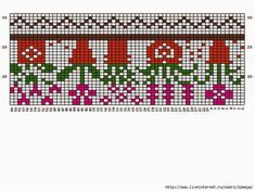 VK is the largest European social network with more than 100 million active users. Seed Bead Patterns, Mosaic Patterns, Beading Patterns, Knitting Charts, Loom Knitting, Knitting Patterns, Knitting Ideas, Boot Toppers, Chart Design