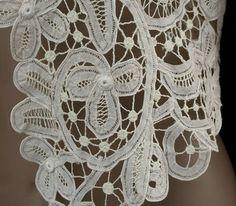 Edwardian clothing at Vintage Textile: #2312 Battenburg lace suit