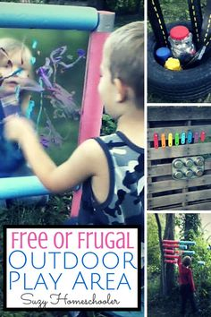 Creating an Outdoor Learning Space for Free or Frugal by Suzy Homeschooler