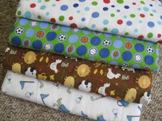 Nap Time Journal: Easy DIY Swaddling Baby Blankets