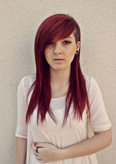 this is probably exactly how I'd want my undercut done. Tasteful look, side bangs, and length.