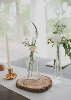 rustic centerpieces | photos by Nicole Roberts | 100 Layer Cake