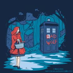 Doctor Who Meets Disney Princesses by Karen Hallion Little Red Riding Hood