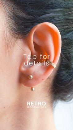 Combina tus aretes lollipop con los Ear cuff Trufas Retro, Detail, Gold Plating, Truffles, Silver, Hand Made, Accessories, Retro Illustration, Mid Century
