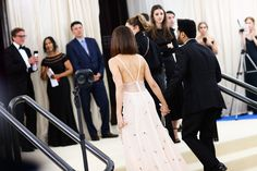 "selenagomez-fashionstyle: ""Selena and The Weeknd attending MET Gala 2017 in NYC, May 1 """