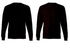 Download Blank Tshirt Template Black in 1080p | T shirt design ...