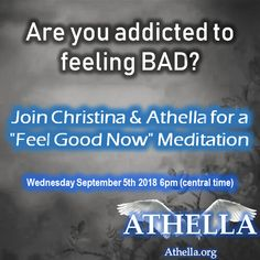 Athella is an Ascended Master who talks through Christina Hill. Ascended Masters, Feel Good, Addiction, Meditation, Healing, Therapy, Recovery, Zen