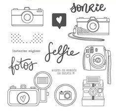 Selfies, Scrapbooking, Album Photo, Digital Stamps, Photos, Notebook, Bullet Journal, Diy, Crafts