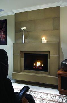 Concrete Fireplace - contemporary - fireplaces - calgary ...