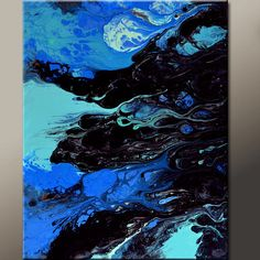 Abstract Canvas Art 18x24 Original Contemporary Modern Paintings by Destiny Womack - dWo - In The Twilight