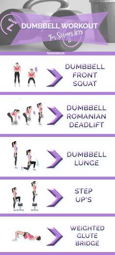 Strong Lean Legs - Dummbell Leg Workout For Beginners