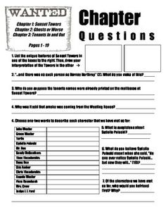 Worksheets The Westing Game Worksheets the westing game final test and study guides on pinterest chapter questions 1 30