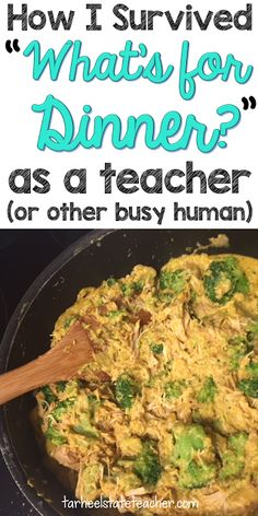 "Are you a busy teacher asking ""What's for dinner?"" Then you're going to love the easy to implement ideas at this blog post! Real, whole foods do not have to be a dream any more. Get supper on the table with very little prep work or time. These low prep meals are sure to please the busiest teacher or mom. Whether your family is big on meat, strictly vegetarian, or any other health style - you'll find recipes and ideas here that are sure to fit your needs AND your budget! Click through for…"