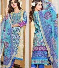 Karam Embroidered  Lawn Suits Collection 787_B